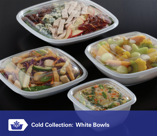 Sabert Cold Collection: White Bowls