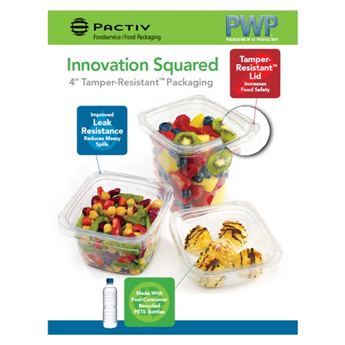 "Pactiv PWP - 4"" Tamper-Resistant™ Packaging"