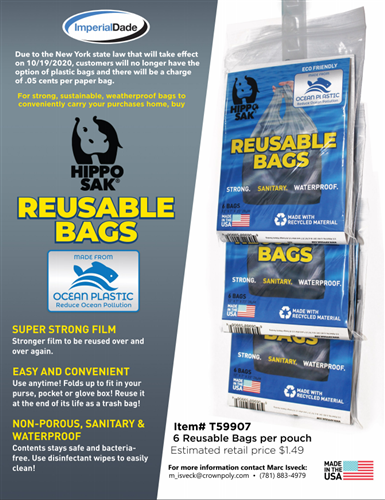 Ocean Plastic Reusable Bag