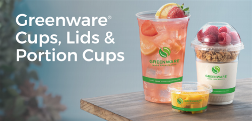 Greenware Cups, Lids, and Portion Cups