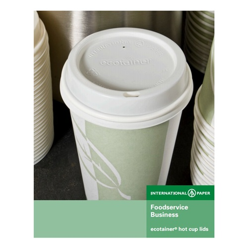 International Paper Ecotainer Hot Cup Lids