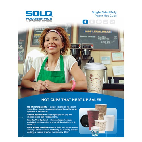 Solo Single Sided Poly Paper Hot Cups