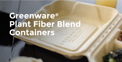 Greenware Plant Fiber Blend Containers
