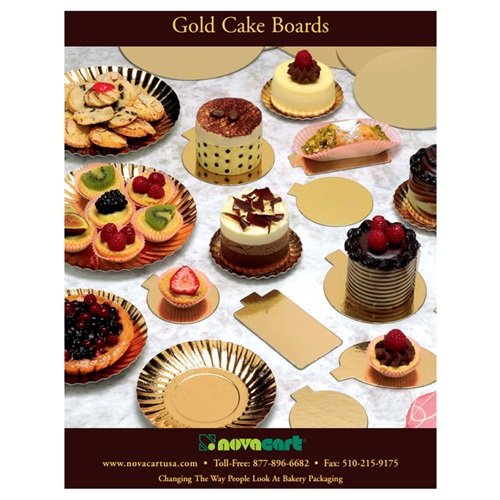 Novacart Gold Cake Boards