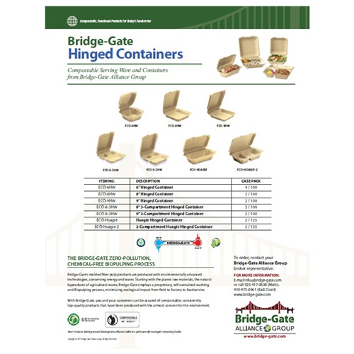 Bridge-Gate Gourmet Hinged Containers Catalog