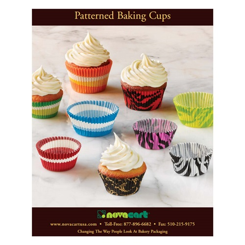 Novacart Patterned Baking Cups