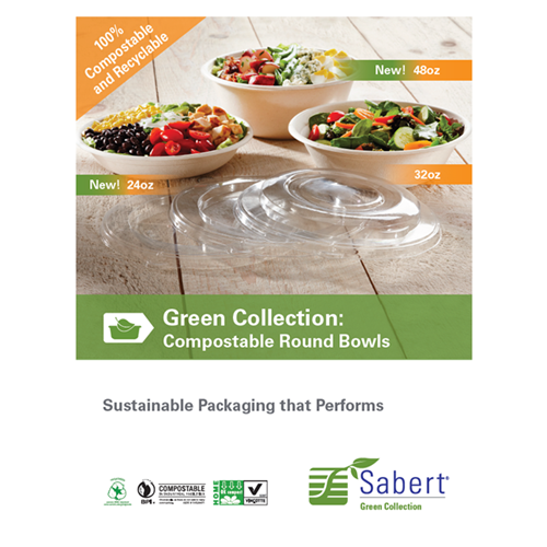 Sabert Green Collection Compostable Round Bowls