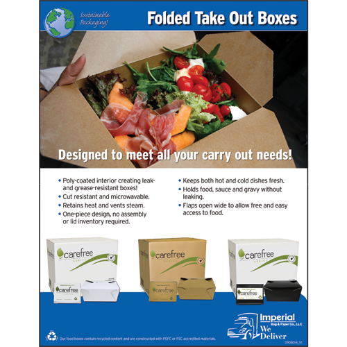 Carefree Folded Take Out Boxes