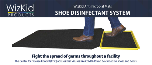 WizKid Antimicrobial Mats Shoe Disinfectant System