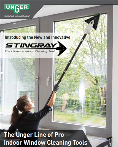 Unger Stingray Indoor Window Cleaning Kit
