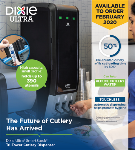 Dixie Ultra® SmartStock® Tri-Tower Cutlery Dispenser