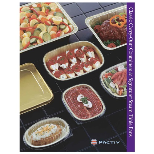Pactiv Classic Carry-Out Containers & Signature Steam Table Pans