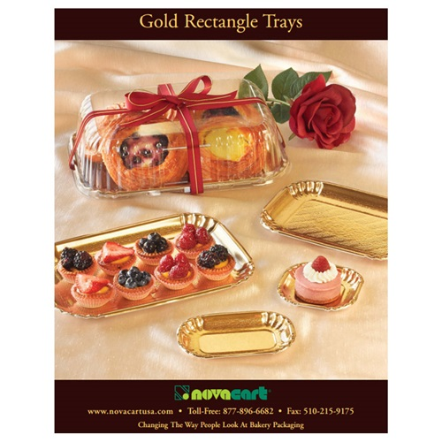 Novacart Gold Rectangle Trays